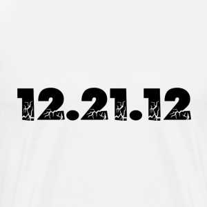 White 12.21.12 2012 The End of the World? T-Shirts - Men's Premium T-Shirt