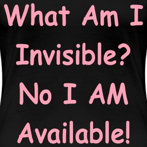 Black invisable_no_available Plus Size - Women's Premium T-Shirt