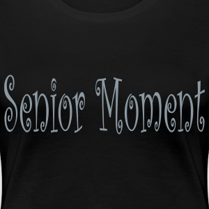 Black new_senior_moment Plus Size - Women's Premium T-Shirt