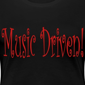 Black music_driven Plus Size - Women's Premium T-Shirt