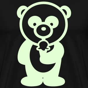 Glow in the dark - Ice Cream Panda - Men's Premium T-Shirt