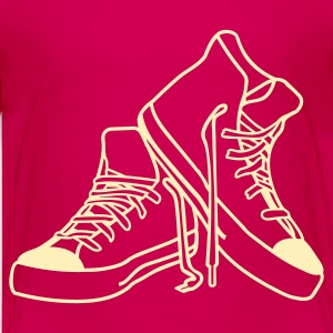 Hot pink punkshoes outline Kids' Shirts - Kids' Premium T-Shirt