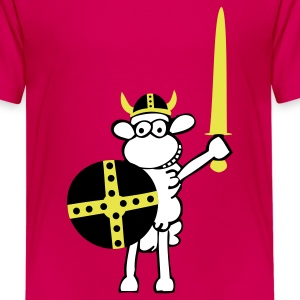 Hot pink sheep viking1 Kids' Shirts - Kids' Premium T-Shirt