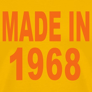 Gold Made in 1968 T-Shirts - Men's Premium T-Shirt