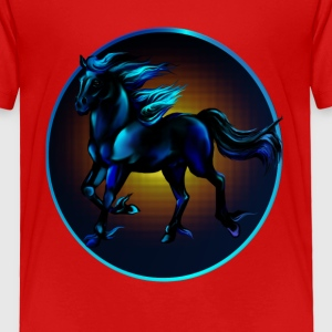 Framed Black Horse - Toddler Premium T-Shirt