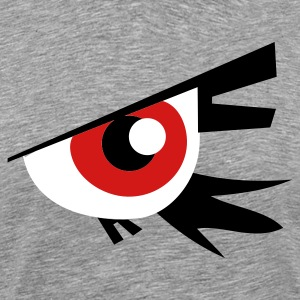 Heather grey large emo goth eye T-Shirts - Men's Premium T-Shirt