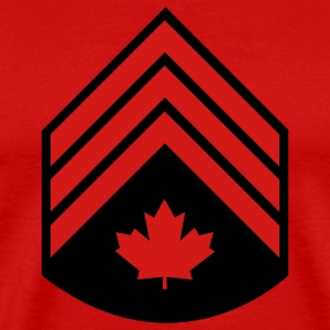 Red Canadian Forces Sergeant T-Shirts - Men's Premium T-Shirt
