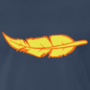 Navy feather two color T-Shirts - Men's Premium T-Shirt