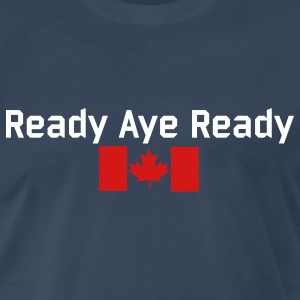Navy Read Aye Ready T-Shirts - Men's Premium T-Shirt