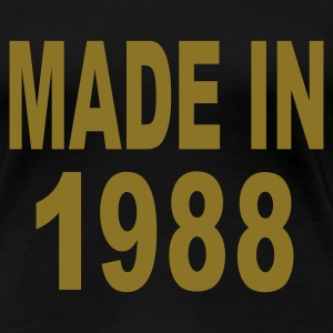 Black Made in 1988 Plus Size - Women's Premium T-Shirt