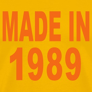 Gold Made in 1989 T-Shirts - Men's Premium T-Shirt