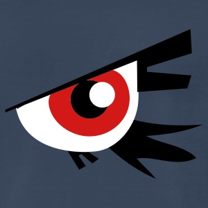Navy large emo goth eye T-Shirts - Men's Premium T-Shirt