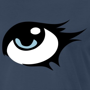 Navy eye with pretty eyelashes T-Shirts - Men's Premium T-Shirt
