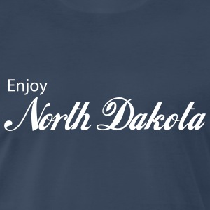 Navy north dakota T-Shirts - Men's Premium T-Shirt