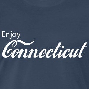 Navy connecticut T-Shirts - Men's Premium T-Shirt