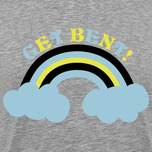 Heather grey get bent! with rainbow T-Shirts - Men's Premium T-Shirt