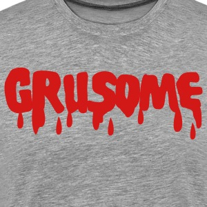 Heather grey grusome with blood drips T-Shirts - Men's Premium T-Shirt