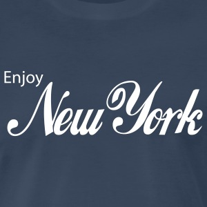Navy new york T-Shirts - Men's Premium T-Shirt