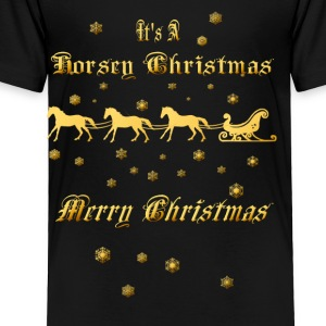 It's A Horsey Christmas - Toddler Premium T-Shirt