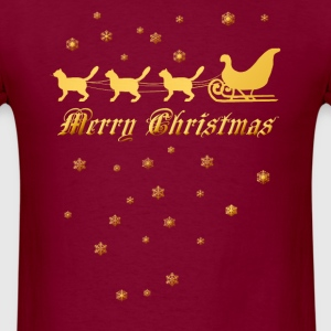 Gold Christmas Kities - Men's T-Shirt