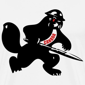 White Beaver Soldier T-Shirts - Men's Premium T-Shirt