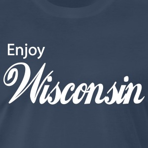 Navy wisconsin T-Shirts - Men's Premium T-Shirt