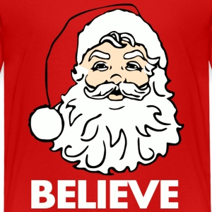 Red I Believe in Santa Claus Toddler Shirts - Toddler Premium T-Shirt