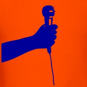 Orange microphone T-Shirts - Men's T-Shirt
