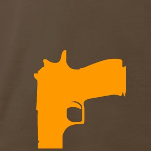 Chocolate gun (orange) T-Shirts - Men's Premium T-Shirt