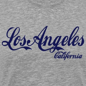 Heather grey los angeles california T-Shirts - Men's Premium T-Shirt