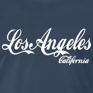 Navy los angeles california T-Shirts - Men's Premium T-Shirt
