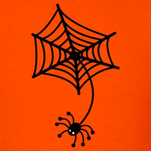 Orange spiderweb and spider T-Shirts - Men's T-Shirt