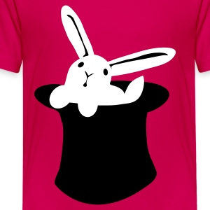 Hot pink rabbit in hat MAGIC!!! Kids' Shirts - Kids' Premium T-Shirt