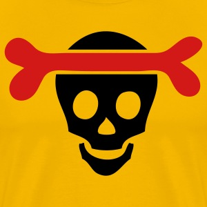 Yellow skull with bone T-Shirts - Men's Premium T-Shirt