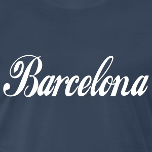 Navy barcelona T-Shirts - Men's Premium T-Shirt