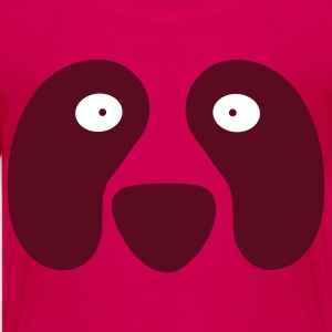 Hot pink panda face wide eyed Kids' Shirts - Kids' Premium T-Shirt