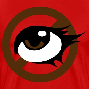 Red pretty eye with strikeout no eyes! T-Shirts - Men's Premium T-Shirt