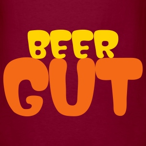 Burgundy beer gut T-Shirts - Men's T-Shirt