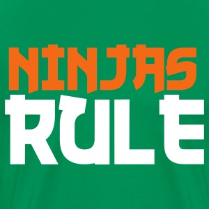 Kelly green ninjas rule T-Shirts - Men's Premium T-Shirt