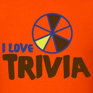 Orange i love trivia T-Shirts - Men's T-Shirt