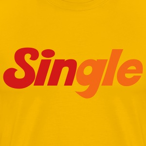 Gold single with sin highlighted T-Shirts - Men's Premium T-Shirt