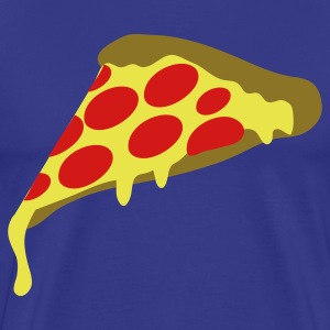 Royal blue pepperoni pizza slice T-Shirts - Men's Premium T-Shirt