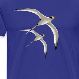 Royal blue Two Tropic Birds T-Shirts - Men's Premium T-Shirt