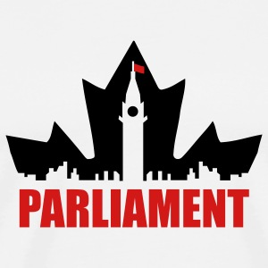 White Canadian Parliament T-Shirts - Men's Premium T-Shirt
