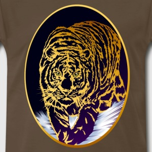 Framed Snow Tiger - Men's Premium T-Shirt