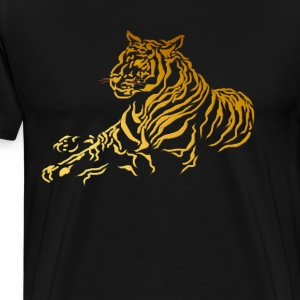 Gold Tiger - Men's Premium T-Shirt