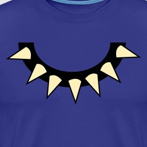 Royal blue spikey dog collar T-Shirts - Men's Premium T-Shirt
