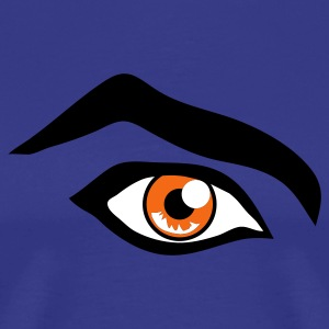 Royal blue intense eye with large eyebrow T-Shirts - Men's Premium T-Shirt