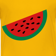 Design ~ KKT 'Large Watermelon Slice' Children's Tee, Yellow