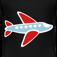 Design ~ KKT 'Airplane, 3 Color' Toddler Tee, Black